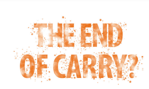 Image of Wilmott Magazine's January 2021 cover story entitled The End Of Carry written by Rise Of Carry authors Tim Lee, Jamie Lee and Kevin Coldiron.